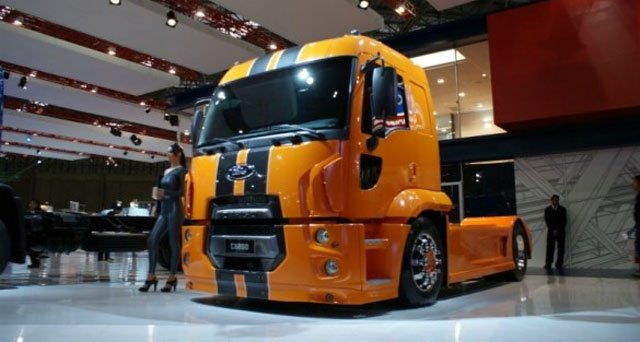 Ford Cargo Semi Truck Decked Out Shelby Style