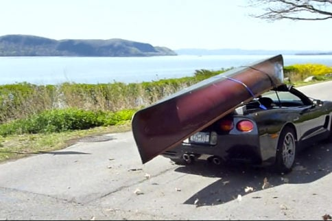 Don't Try This At Home: Hauling A Boat On Top Of A C5 Corvette