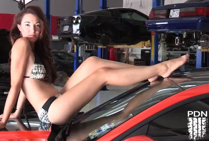 Video: Bikini Model Goes From Photoshoot To Drag Strip