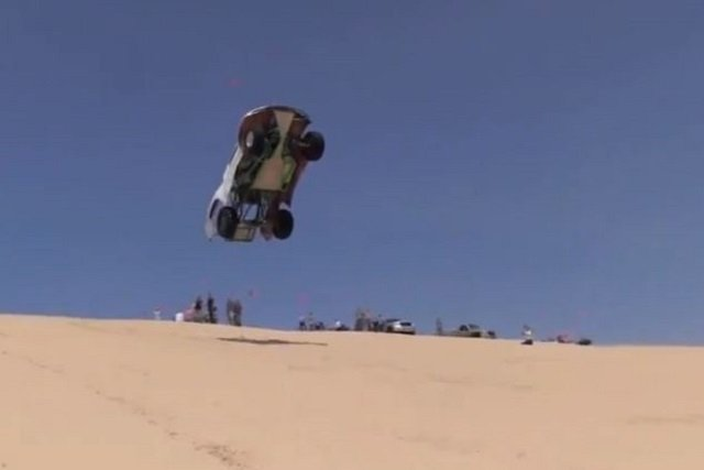 Video: Ford Trophy Truck Folds In Half After Big Jump