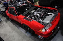 SEMA 2013: Creations 'n Chrome's Updated Top Notch Fox body Mustang