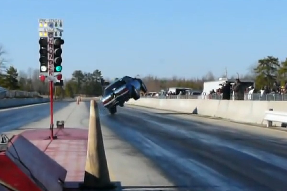 Video: Mustang Tries To Tear Off Rear Bumper - Comes Down Hard