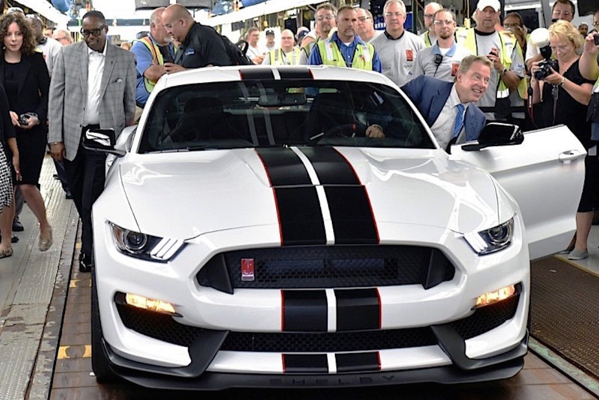 First Shelby GT350 Rolls Off Production Line