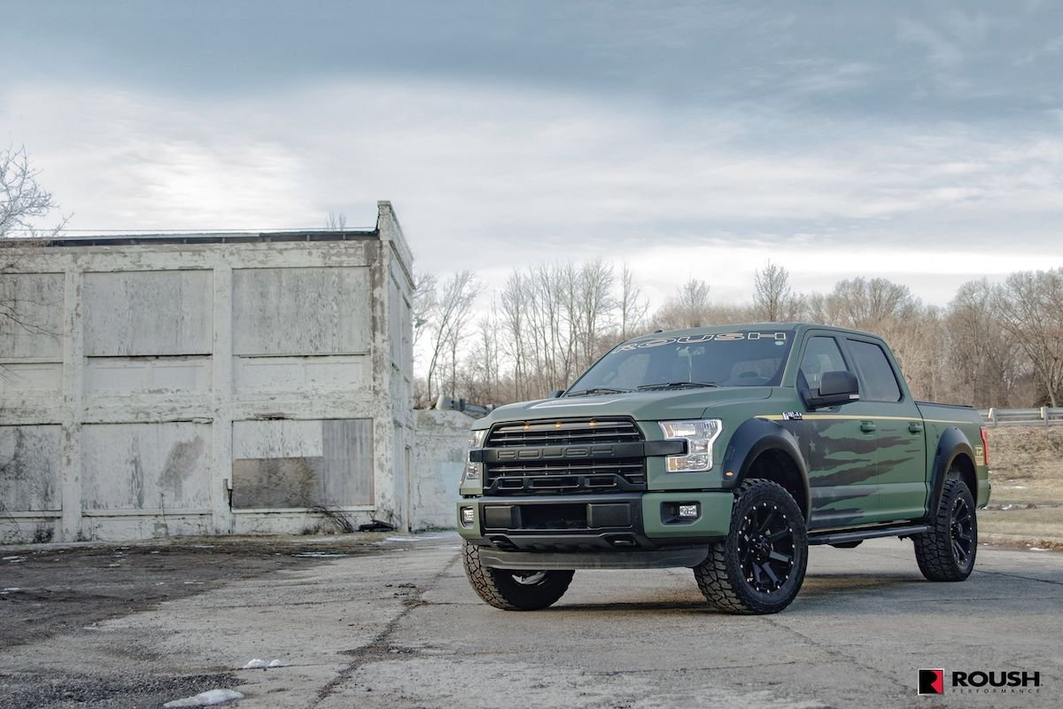 2017 roush f 150 pushes the limits of mickey thompson tires. Black Bedroom Furniture Sets. Home Design Ideas