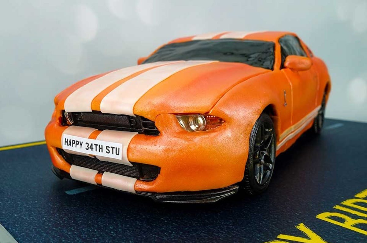 Power Hungry! A Remote-Control Shelby Birthday Cake