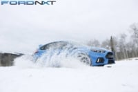 Slinging Snow In A Drift Stick-Equipped Focus RS