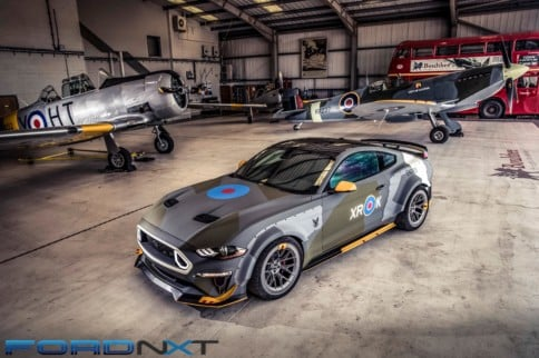 Vaughn Gittin Jr. Pilots 700HP Eagle Squadron Mustang At Goodwood