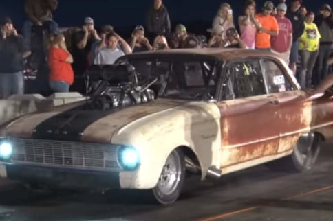 1,800-Horsepower, Barn-Find Falcon Is A Force On The Drag Strip