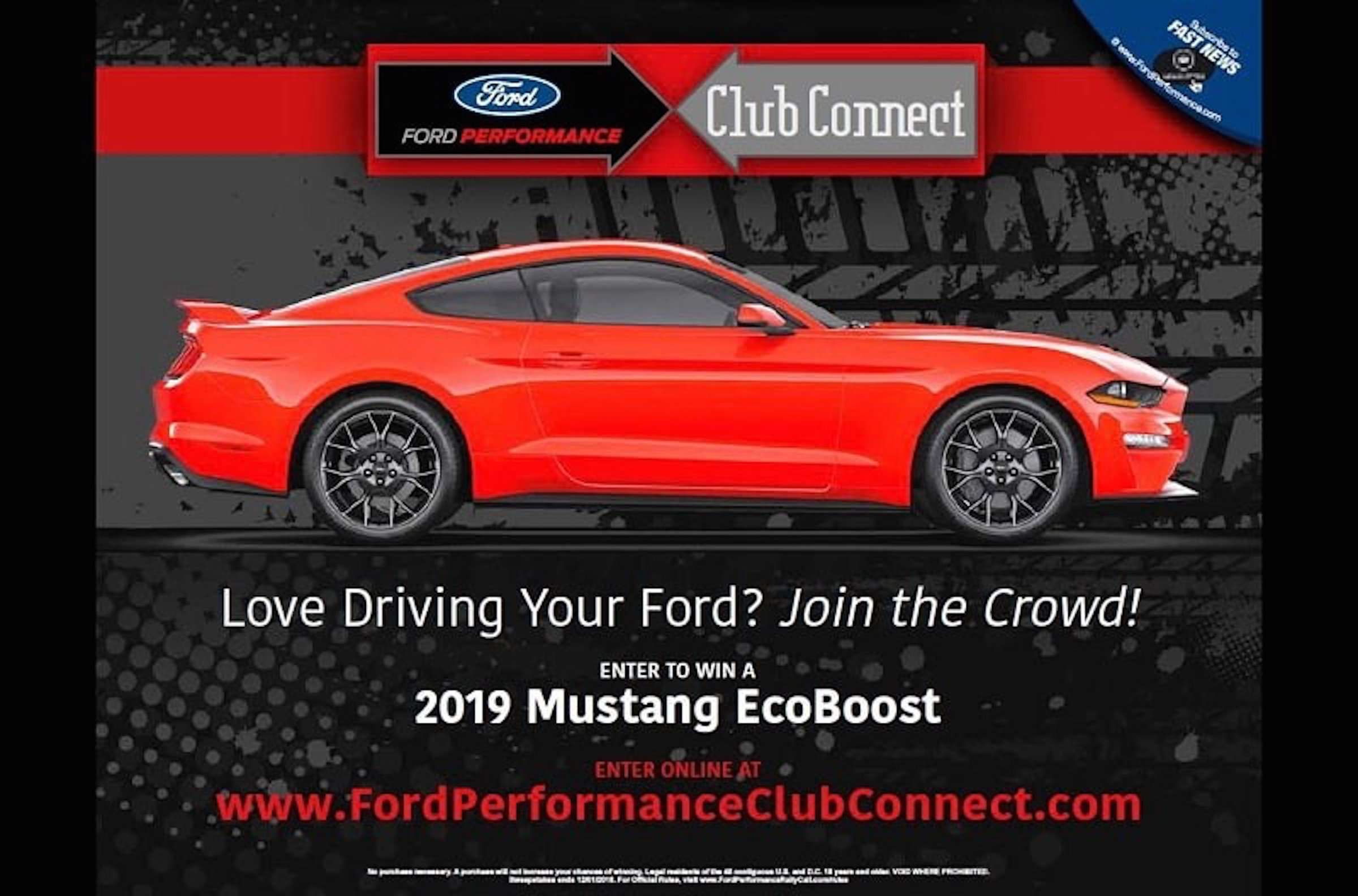 You Could Win A 2019 Mustang For Connecting With Ford